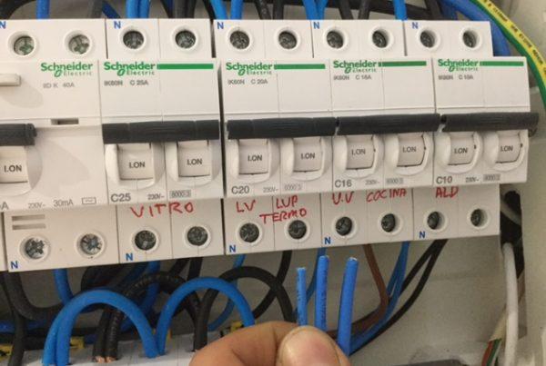 Detalle secciones de cable